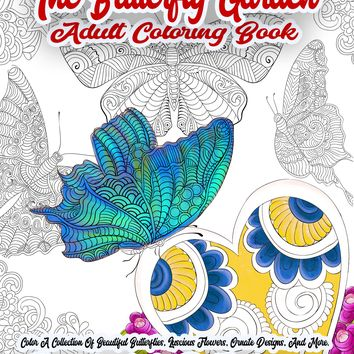 The Butterfly Garden Adult Coloring Book | Instant Download