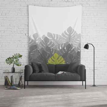 Tropical leaves 03 Wall Tapestry by naturalcolors