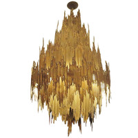 Monumental Brutalist Chandelier by Tom Greene