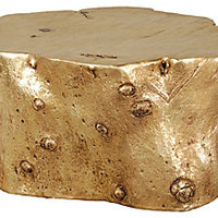 Log Cocktail Table, Gold