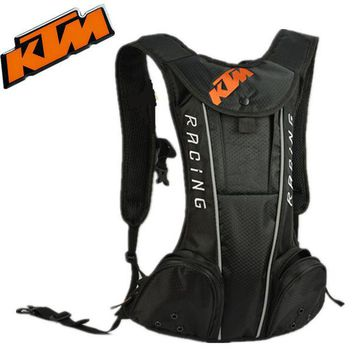 LMF8UH Backpack - KTM Style - Motorcycle / Motocross Racing / Cycling