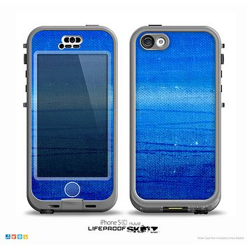 The Unbalanced Blue Textile Surface Skin for the iPhone 5c nüüd LifeProof Case
