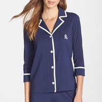 Women's Lauren Ralph Lauren Pima Cotton Boxer Pajamas,