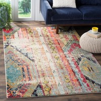 Safavieh Monaco Vintage Bohemian Multicolored Rug (8' x 11') | Overstock.com Shopping - The Best Deals on 7x9 - 10x14 Rugs