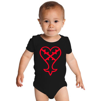 Heartless Logo (Red) - Kingdom Hearts Baby Onesuits
