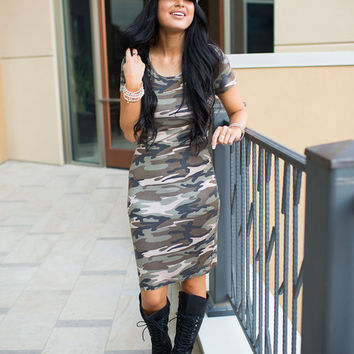 The Simple Things in Life Camo Dress