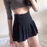 Pleated Skirt - Black sold by Sandysshop