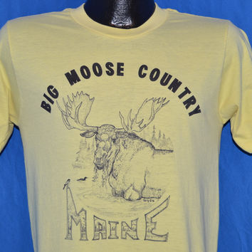 80s Maine Big Moose Country t-shirt Medium