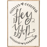 Hey Y'all Wood Sign | Hobby Lobby | 769547