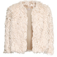 Faux Fur Cardigan - from H&M