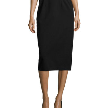 High-Waist Ponte Pencil Skirt, Size: