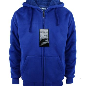 Boys Full Zip up Fleece Hoodie Sweatshirt - Royal - CASE OF 12
