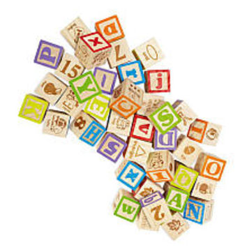 Imaginarium Discovery Wooden Alphabet Blocks - 40 Piece