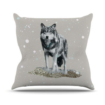 "Monika Strigel ""Wolf"" Throw Pillow"