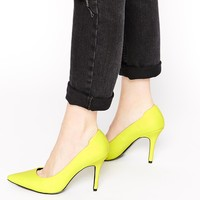 ALDO Ybuvia Neon Yellow Heeled Court Shoes