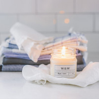 Fresh Linen - 9 oz Pure Soy Wax Candle