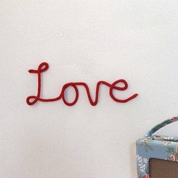 Knitted Love Sign