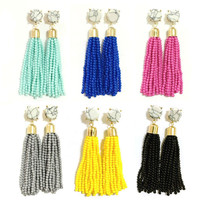 Solita Beaded Tassel Earrings