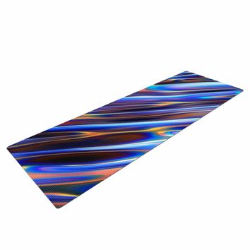 "Danny Ivan ""Iridescent"" Blue Multicolor Illustration Yoga Mat"