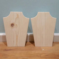 Solid wood jewelry display necklace holder craft show booth store displays