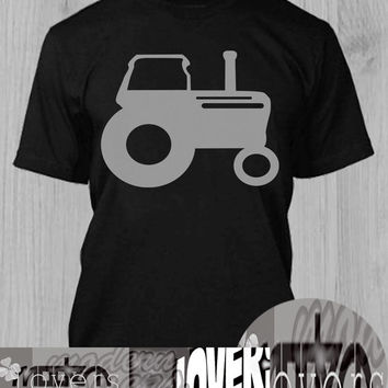 Tractor TShirt Tee Shirts Black and White For Men and Women Unisex Size