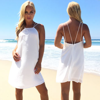 Dry Spell Dress In White