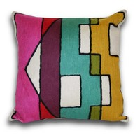Graphic Kiss Pillow