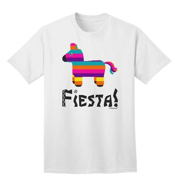 Colorful Pinata Design - Fiesta Adult T-Shirt by TooLoud