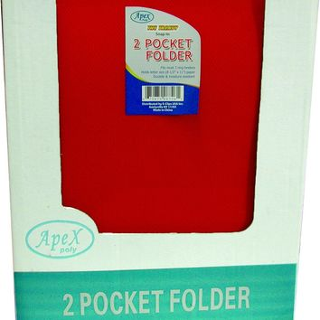 Premium Snap-In Plastic 2 Pocket Folders - Assorted Colors