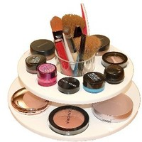 Cosmetic Carousel: Large Makeup Holder and Cosmetic Organizer