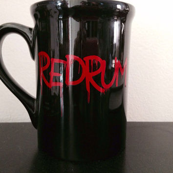 Redrum coffee mug. The Shining inspired coffee mug