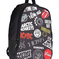 rock band logo collage 41811848-556d-48a5-9561-b2fca1014b23 for Backpack / Custom Bag / School Bag / Children Bag / Custom School Bag *02*