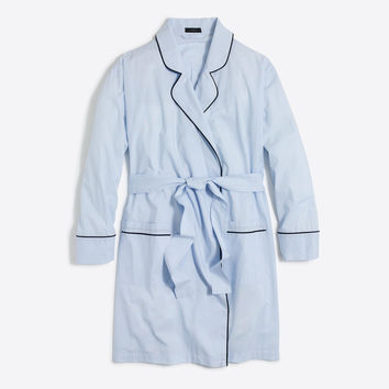 Robe in end-on-end cotton