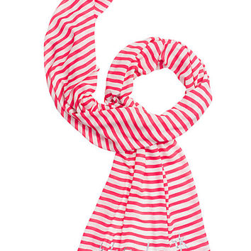 Kate Spade Painterly Stripe Oblong Scarf Geranium ONE