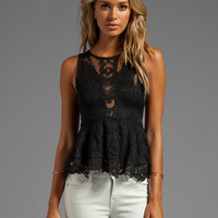 For Love & Lemons Lulu Lace top in Black