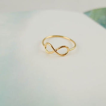 infinity ring in gold by LemonTreeLand on Etsy
