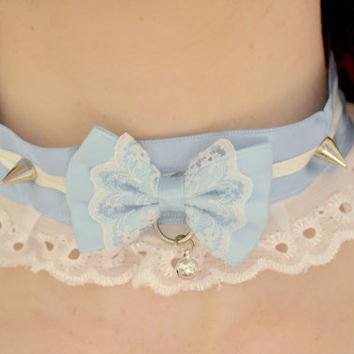 Kawaii Pastel Lolita Collar (Blue)