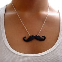 Mustache Necklace by SimplyEncharming on Etsy