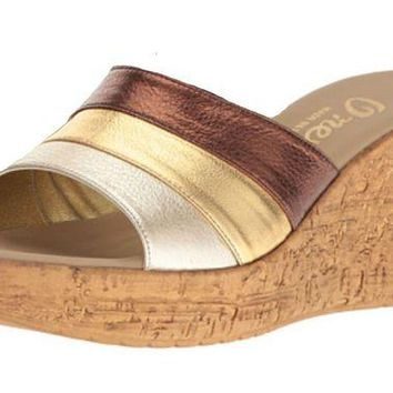 VONEW3J Onex Balero Bronze Multi High Heel Wedge Sandals