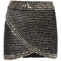 Sabrina beaded wrap effect skirt