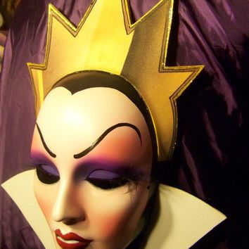 Evil Queen Mask, Snow White, Villains, Nice, HandMade/ Painted- Disney inspired