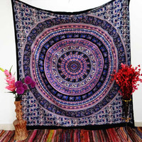 Elephant Round Pink Mandala Tapestry Wall Hanging Dorm Bedspread – TheNanoDesigns