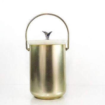 Vintage Brass Ice Bucket Mid Century Ice Bucket