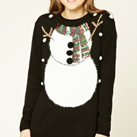 Snowman Sequin Sweater