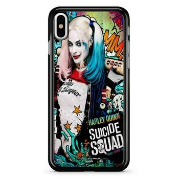 Suicide Squad Poster Harley Quinn iPhone X Case