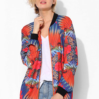 ARTS THREAD X UO Joanne Silky Jacket  - Urban Outfitters