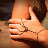 Slave Bracelet Hipster Bronze Chain Bohemian Two by FunnyPeopleCo