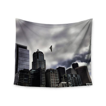 "Sylvia Cook ""Seattle Skyline"" City Clouds Wall Tapestry"