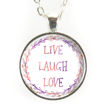 Best Live Laugh Love Necklace Products On Wanelo