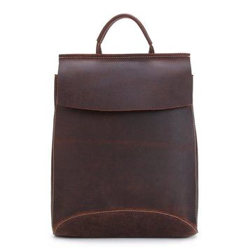 BLUESEBE HANDMADE VINTAGE GENUINE LEATHER BACKPACK 8904